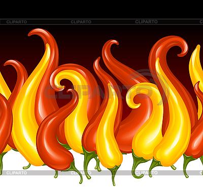 Paprika in der Gestalt des Feuers | Stock Vektorgrafik |ID 3198093