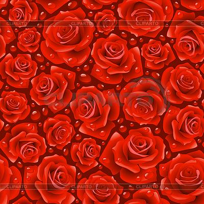 Czerwona róża bez szwu tła | Klipart wektorowy |ID 3200760