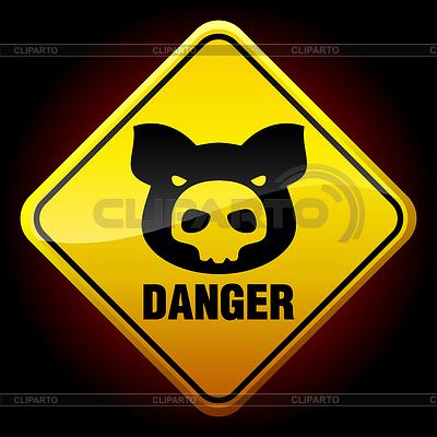 Ostrzeżenie H1N1 znak | Klipart wektorowy |ID 3222926