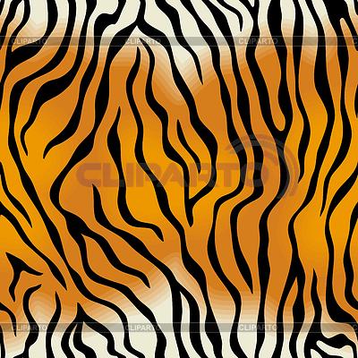 Nahtlose Textur der Tigerfell | Stock Vektorgrafik |ID 3235645