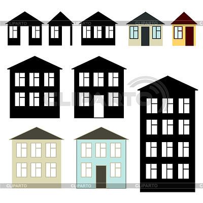Proste budynki ustawione | Klipart wektorowy |ID 3271336