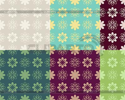 Abstrakcyjne bez szwu wzór warianty kolorystyczne | Klipart wektorowy |ID 3328068