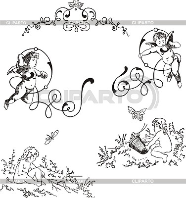 Ecken-Vignetten im Jugendstil | Stock Vektorgrafik |ID 3349742