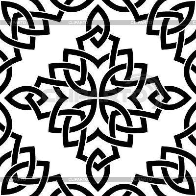 Schwarz Celtic seamless pattern | Stock Vektorgrafik |ID 3383723