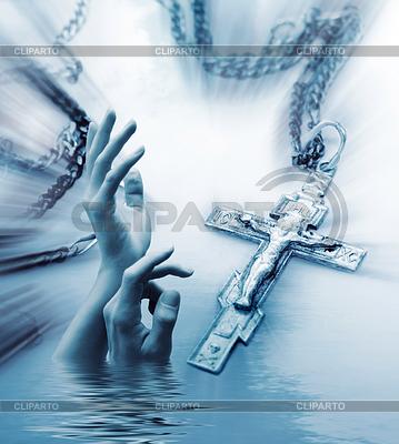 Kreuz und Hand | Foto mit hoher Auflösung |ID 3229469
