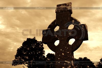 Celtic Stone Cross | Foto stockowe wysokiej rozdzielczości |ID 3233138