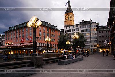 Wieczór w Zurychu | Foto stockowe wysokiej rozdzielczości |ID 3291819