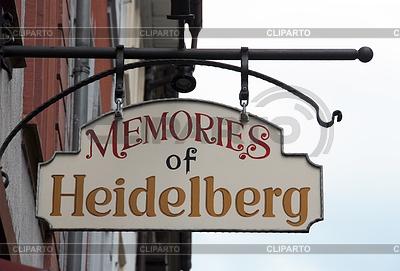 Wirtshausschild Memories of Heidelberg | Foto mit hoher Auflösung |ID 3353261