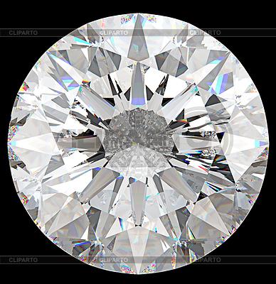 Edelstein: Draufsicht des runden Diamanten   Foto mit hoher Auflösung  ID 3235208