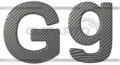Czcionki z włókna węglowego G małe i duże litery | Stockowa ilustracja wysokiej rozdzielczości |ID 3236478