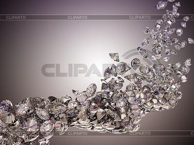 Duży przepływ diamenty | Stockowa ilustracja wysokiej rozdzielczości |ID 3236611