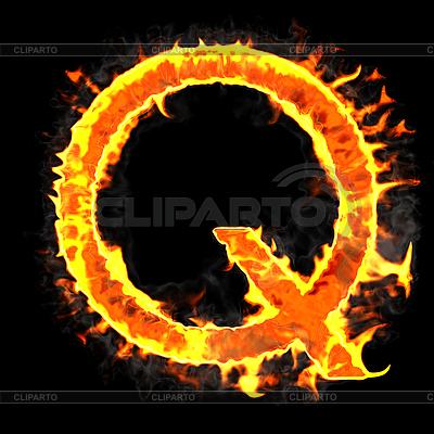 Nagrywanie i płonące początkową literę Q | Stockowa ilustracja wysokiej rozdzielczości |ID 3236947