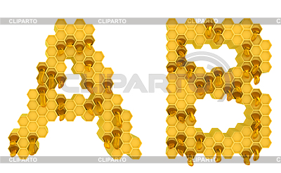Honey font A and B letters | High resolution stock illustration |ID 3238001