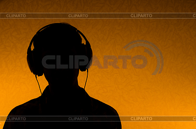 Musik hören - ein Mann mit Kopfhörern | Foto mit hoher Auflösung |ID 3294136