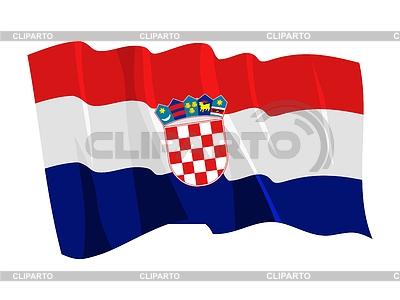 Wehende Flagge von Kroatien | Stock Vektorgrafik |ID 3250535