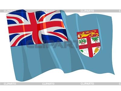 Wehende Flagge von Fidschi | Stock Vektorgrafik |ID 3250700
