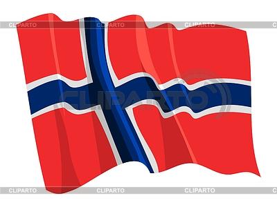 Wehende Flagge von Norwegen | Stock Vektorgrafik |ID 3250897