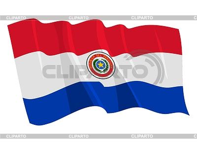 Развевающийся флаг парагвая perysty
