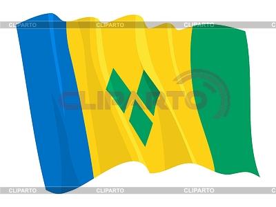 Wehende Flagge von Saint Vincent und Grenadinen | Stock Vektorgrafik |ID 3250939