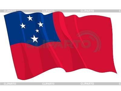Macha Flaga Samoa | Klipart wektorowy |ID 3250943