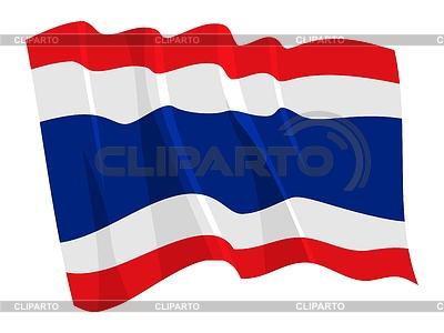 Wehende Flagge von Thailand | Stock Vektorgrafik |ID 3250995