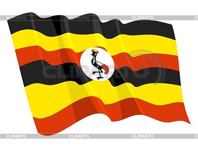 Развевающийся флаг уганды perysty