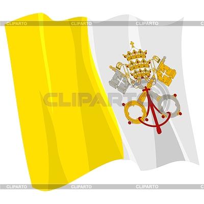 Развевающийся флаг ватикана perysty
