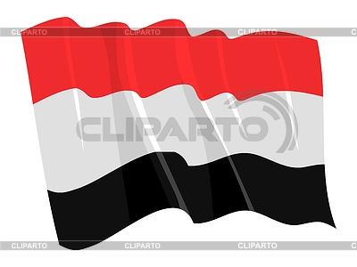 Wehende Flagge von Jemen | Stock Vektorgrafik |ID 3251033