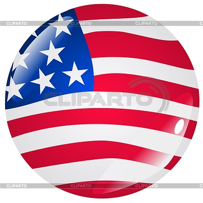 Web-Button in den Farben der USA | Stock Vektorgrafik |ID 3251153