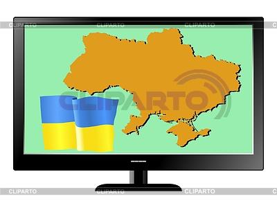 Поиска украина флаг и карта
