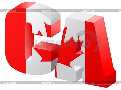 Internetowe domeny najwyższego poziomu Kanady | Klipart wektorowy |ID 3337669