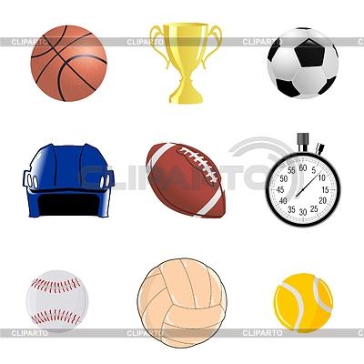 Zestaw sportive obiektów | Klipart wektorowy |ID 3337809