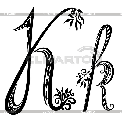K Letter In Style Abc letters  Serie of High