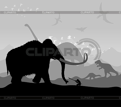 Prehistoryczny czas | Klipart wektorowy |ID 3257592