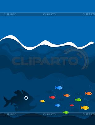 Polowanie ryb | Klipart wektorowy |ID 3259651