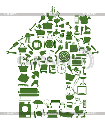 Haus von Objekten | Stock Vektorgrafik |ID 3260113