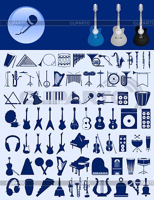 Ikony muzyczne | Klipart wektorowy |ID 3261283