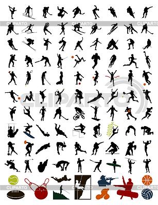Kolekcja sylwetki sportowców | Klipart wektorowy |ID 3261995