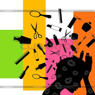 Kosmetik von dem Kopf | Stock Vektorgrafik |ID 3262459