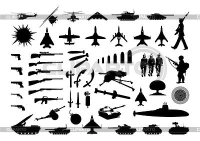 Kolekcja wojskowe | Klipart wektorowy |ID 3262551