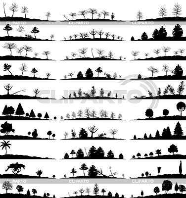 Set von Landschaft-Silhouetten | Stock Vektorgrafik |ID 3278797