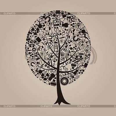 Baum der Wissenschaft | Stock Vektorgrafik |ID 3348965