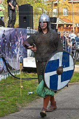 Русская средневекового воина - исторической реконструкции | Фото большого размера |ID 3324465