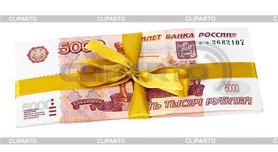 5000 russische Rubel von Band umwickelt | Foto mit hoher Auflösung |ID 3283498