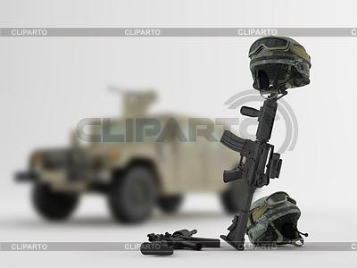 Армейский автомобиль | Иллюстрация большого размера |ID 3345532