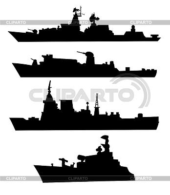 军舰剪影 | 向量插图 |ID 3279668