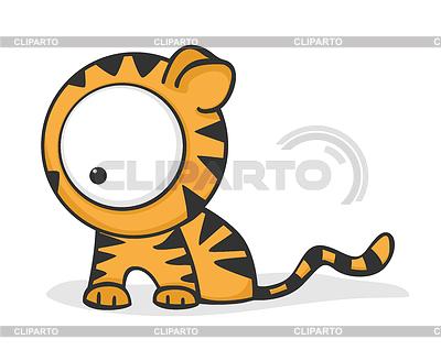 Großäugiger Tiger | Stock Vektorgrafik |ID 3279287