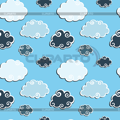 Nahtloses Muster mit blauen Wolken | Stock Vektorgrafik |ID 3280478