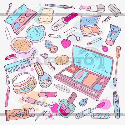 Produkte für Make-up und Schönheit | Stock Vektorgrafik |ID 3297847