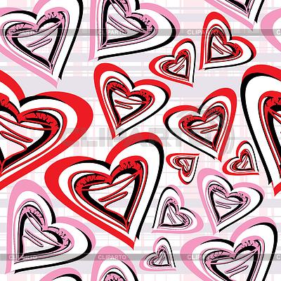 Valentine dzień - bez szwu   Klipart wektorowy  ID 3285783